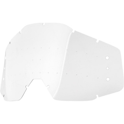 100% Speedlab roll-off replacement lens clear with bumps