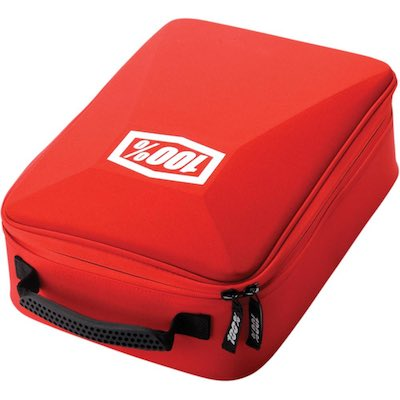 100% goggle case red