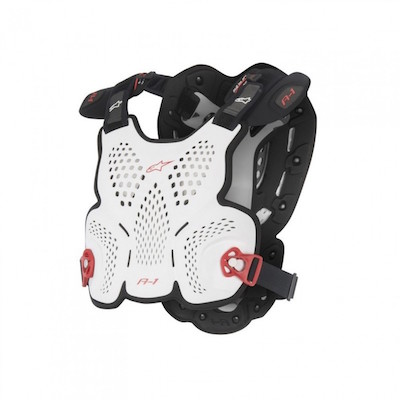 Alpinestar A-1 Bodyprotector White : red