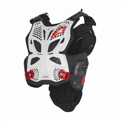 Alpinestar A-10 Bodyprotector White : Black : Red