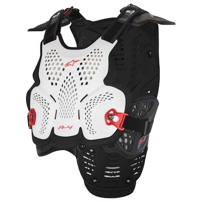 Alpinestar A-4 Bodyprotector White : Black