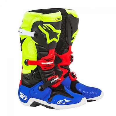 Alpinestar tech 10 black_yellow_blue_red