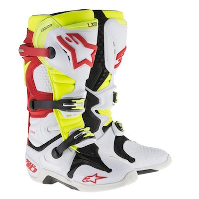Alpinestar tech 10 white_red_yellow