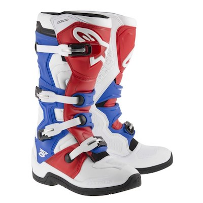 Alpinestar tech 5 white_red_blue