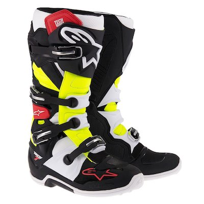 Alpinestar tech 7 Black_red_yellow