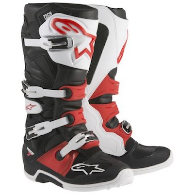 Alpinestar tech 7 Black_white_red