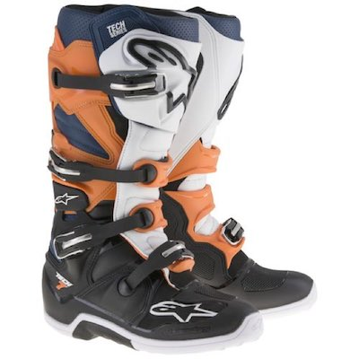 Alpinestar tech 7 black_orange_white_blue