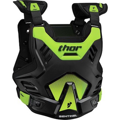 Thor Sentinel GP S16 Black : Green Youth (8-12 years)