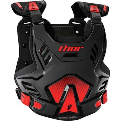 Thor Sentinel GP S16 Black : Red Youth (8-12 years)