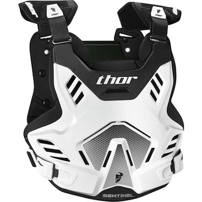 Thor Sentinel GP S16 White : Black Youth (8-12 years)