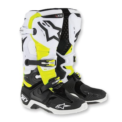 alpinestar tech 10 black_white_yellow