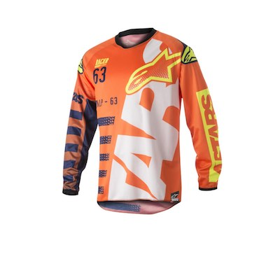 Alpinestar Racer Braap Fluo orange : dark blue : White