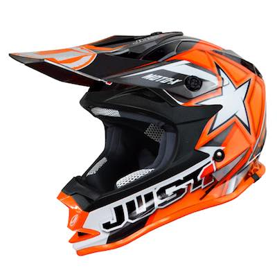 JUST1 Helmet J32 PRO KIDS Moto X Orange