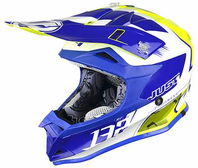JUST1 Helmet J32 PRO KIDS Kick White-Blue-Yellow