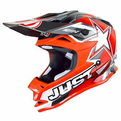 JUST1 Helmet J32 PRO KIDS Moto X Red