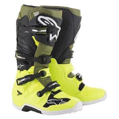Alpinestar Tech 7 Microfiber fluo yellow : military green : black