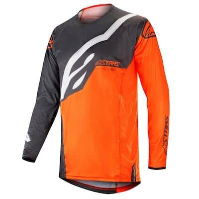 Alpinestar Techstar factory s9 jersey anthracite / orange