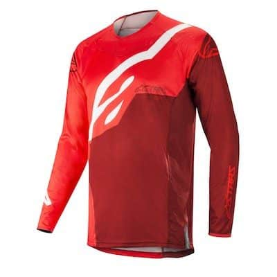 Alpinestar Techstar factory s9 jersey red : burgundy