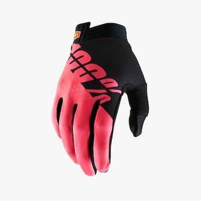 100 % Itrack Black : Fluo red