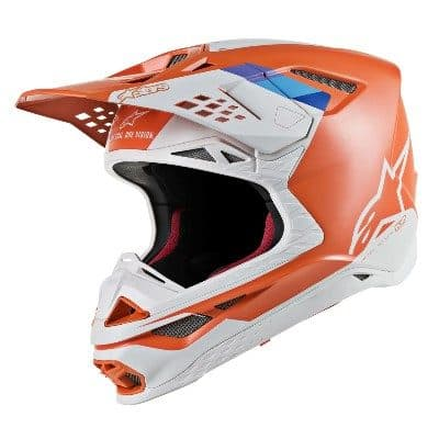 Alpinestars Supertech MS8 blue, light blue, matte, orange, white